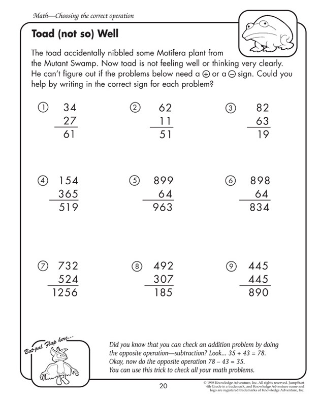 math worksheet : free printable worksheet  the math blaster blog : Touch Math Worksheets Free Printables