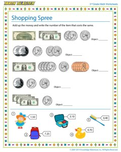 worksheet of the week shopping spree  the math blaster blog worksheet of the week shopping spree