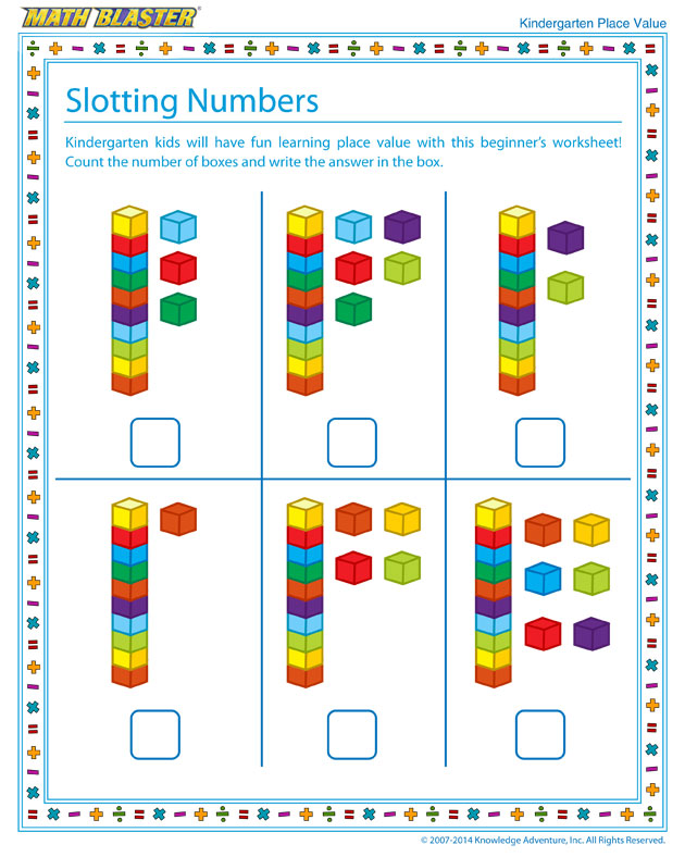Math Worksheet – Kindergarten Place Value Worksheets